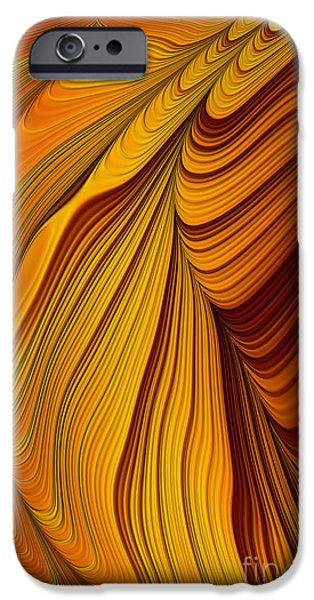 Mysterious Digital Art iPhone Cases - Tigers Eye Abstract iPhone Case by John Edwards