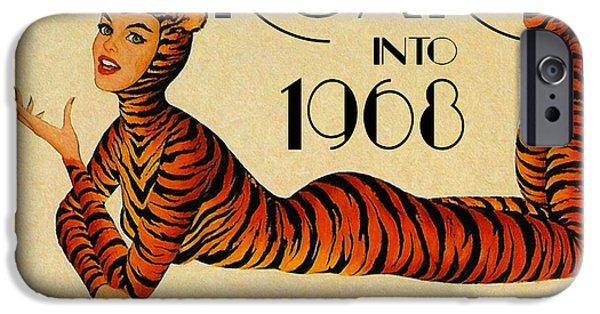 Detroit Tigers Baseball Art iPhone Cases - Tigers Roar Into 1968 iPhone Case by Big 88 Artworks