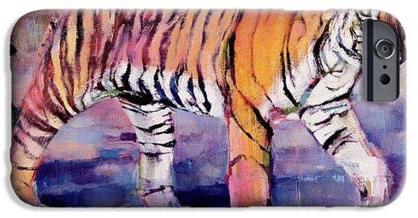 Tiger Art iPhone Cases - Tigress iPhone Case by Mark Adlington