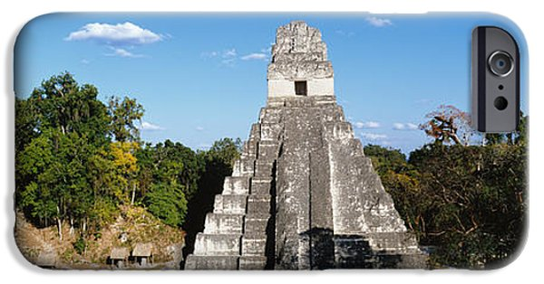 Ancient Ruins iPhone Cases - Tikal, Guatemala, Central America iPhone Case by Panoramic Images