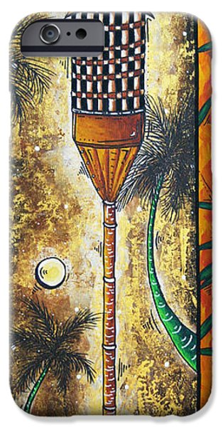 Tree Art Print iPhone Cases - Tiki Dreams by MADART iPhone Case by Megan Duncanson