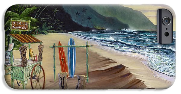 Hawaiian Food iPhone Cases - Tiki For Two at Kee Beach iPhone Case by Bill Shelton