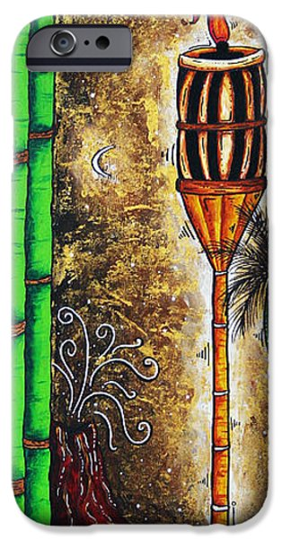 Rust iPhone Cases - Tiki Island by MADART iPhone Case by Megan Duncanson