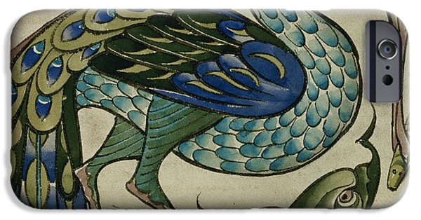 Feeding iPhone Cases - Tile design of heron and fish iPhone Case by Walter Crane