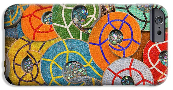 Mosaic iPhone Cases - Tiled Swirls iPhone Case by Adam Romanowicz