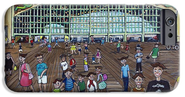 Asbury Park Paintings iPhone Cases - Tillie is Everyone iPhone Case by Patricia Arroyo