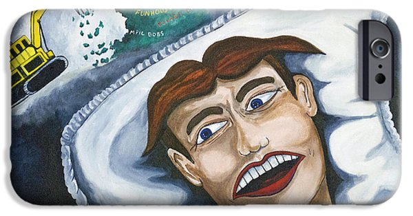 Asbury Park Paintings iPhone Cases - Tillies Nightmare iPhone Case by Patricia Arroyo