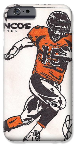 Tebow iPhone Cases - Tim Tebow iPhone Case by Jeremiah Colley