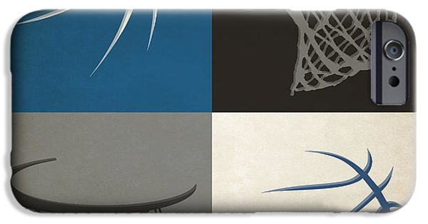 Dunk iPhone Cases - Timberwolves Ball And Hoop iPhone Case by Joe Hamilton