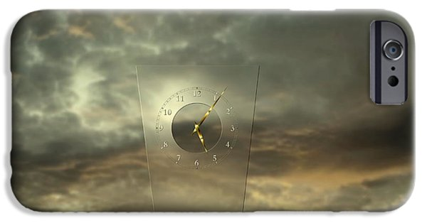 Glass Reflecting iPhone Cases - Time after time iPhone Case by Franziskus Pfleghart