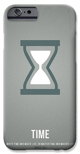 Icons Drawings iPhone Cases - Time iPhone Case by Aged Pixel