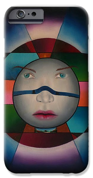 To Heal Paintings iPhone Cases - Time Face iPhone Case by Extranjerocus