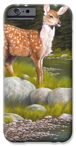 Fawn iPhone Cases - Time for a Drink iPhone Case by Rick Bainbridge