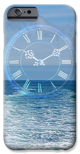 Abstract Seascape iPhone Cases - Time For Adventure iPhone Case by Gill Billington