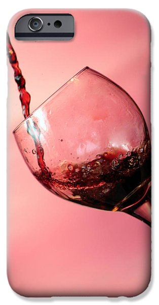 Wine Pour iPhone Cases - Time for Wine  iPhone Case by Michael Ledray