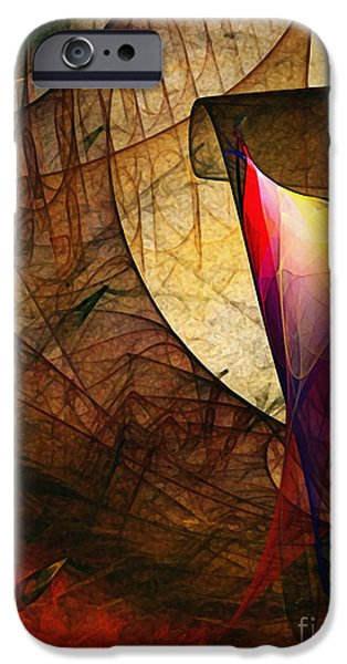 Poetic iPhone Cases - Time Fuse-Abstract Art  iPhone Case by Karin Kuhlmann