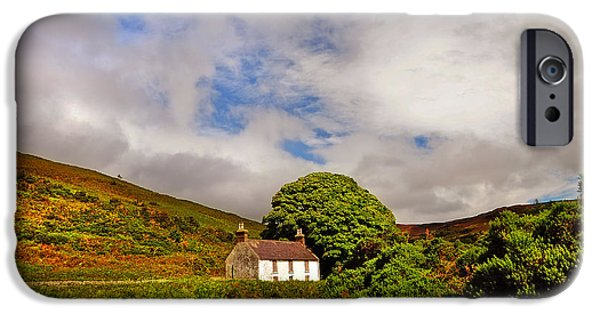 White House iPhone Cases - Time Goes By so Slowly. White Abandoned House in Wicklow iPhone Case by Jenny Rainbow