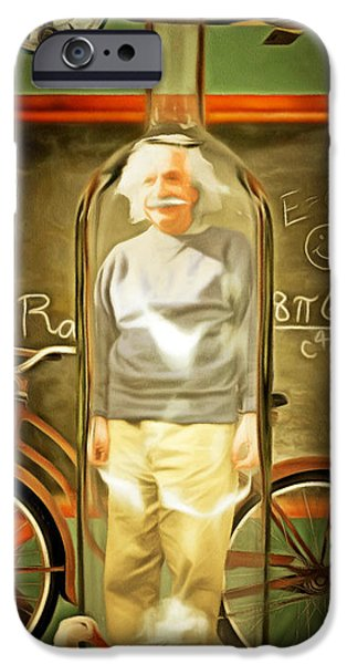 Relativity iPhone Cases - Time In A Bottle Patent Pending 20140923 iPhone Case by Wingsdomain Art and Photography