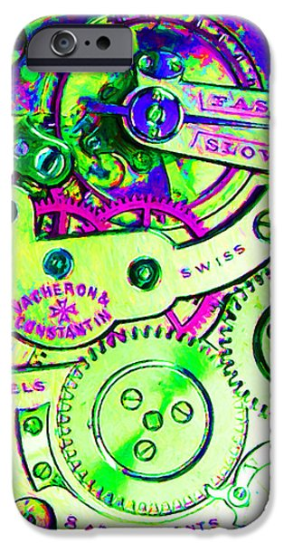 Time In Abstract 20130605m108 Square iPhone Case by Wingsdomain Art and Photography