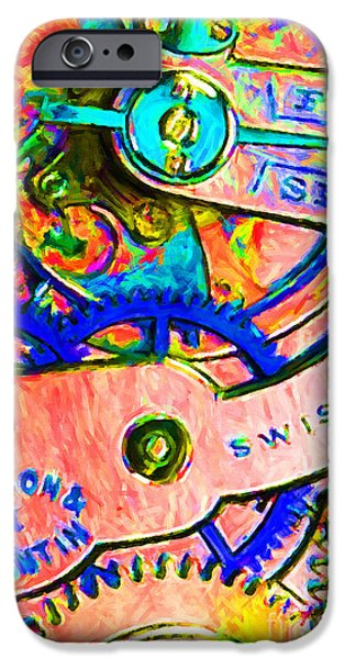 Time In Abstract 20130605p180 iPhone Case by Wingsdomain Art and Photography
