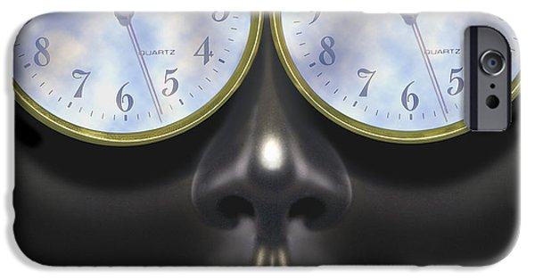 Imaginative iPhone Cases - Time In Your Eyes - SQ iPhone Case by Mike McGlothlen