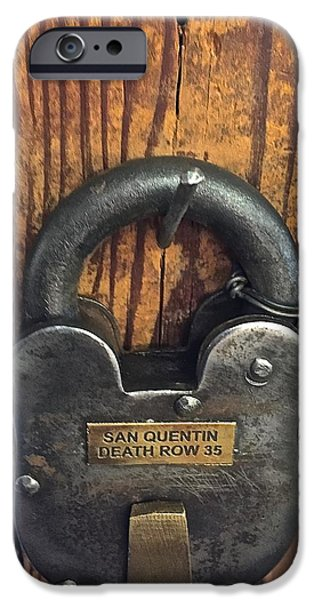 Public Jail iPhone Cases - Time Lock San Quentin iPhone Case by FlyingFish Foto