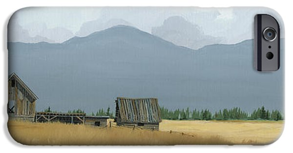 Old Barn iPhone Cases - Time Long Past iPhone Case by John Wyckoff