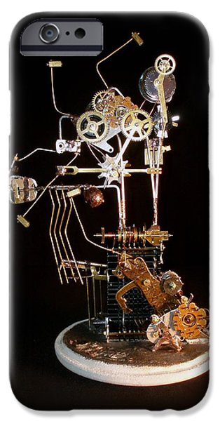 Machinery Sculptures iPhone Cases - Time Machine iPhone Case by Suzanne Lowry