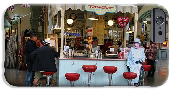 Snack Bar iPhone Cases - Time Out Snack Bar in Bath England iPhone Case by Jack Schultz