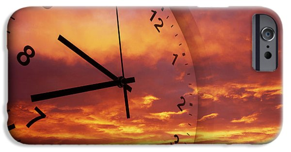 New Years iPhone Cases - Time passing iPhone Case by Les Cunliffe