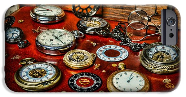 Chronometer iPhone Cases - Time - Pocket Watches  iPhone Case by Paul Ward