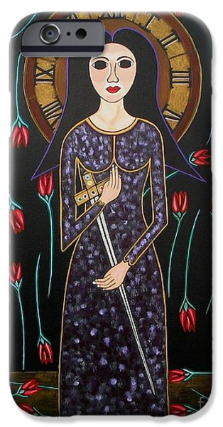 Prostitutes Paintings iPhone Cases - Time iPhone Case by Sandra Marie Adams