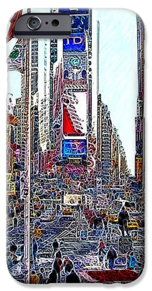 Time Square New York 20130430 iPhone Case by Wingsdomain Art and Photography