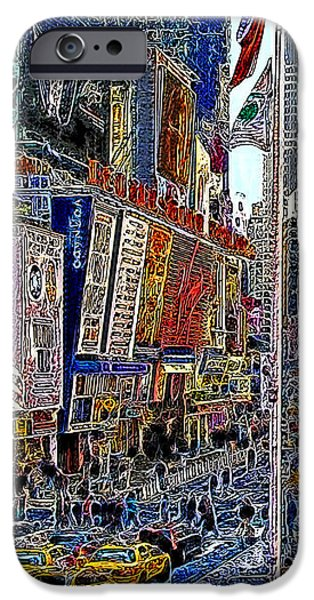 Time Square New York 20130430v2 iPhone Case by Wingsdomain Art and Photography
