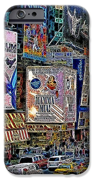 Time Square New York 20130430v3 iPhone Case by Wingsdomain Art and Photography