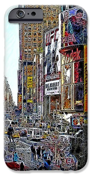 Time Square New York 20130503v4 iPhone Case by Wingsdomain Art and Photography