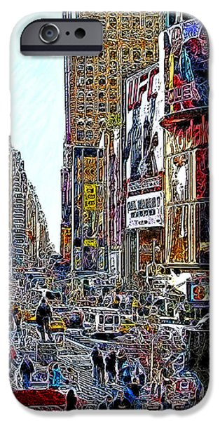 Time Square New York 20130503v7 iPhone Case by Wingsdomain Art and Photography