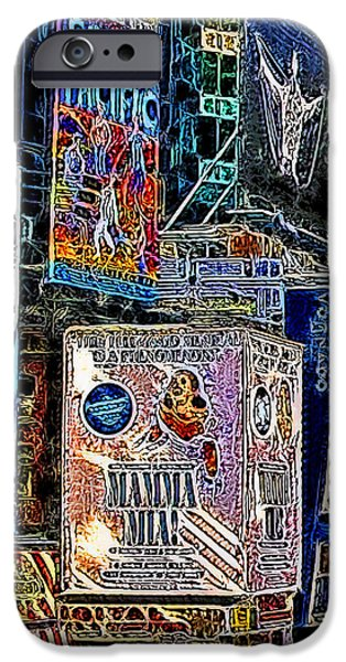 Time Square New York 20130503v9 square iPhone Case by Wingsdomain Art and Photography
