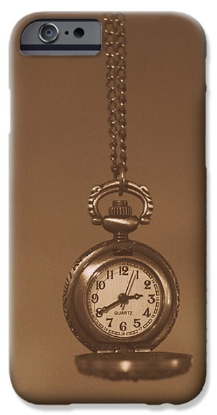 Antiques Jewelry iPhone Cases - Time iPhone Case by Stephanie Hollingsworth