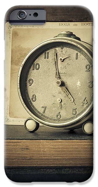 Clock iPhone Cases - Time Stood Still iPhone Case by Amy Weiss