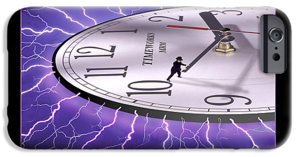 Lightning Digital Art iPhone Cases - Time Stops For No One iPhone Case by Mike McGlothlen
