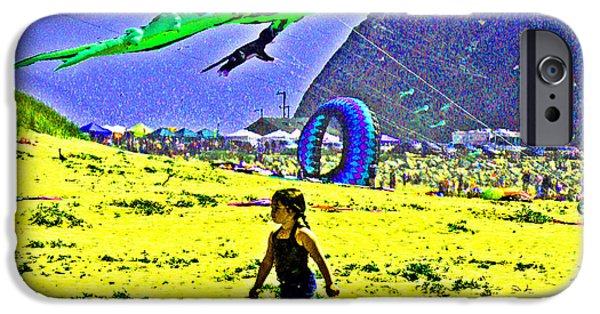 Sand Castles iPhone Cases - Time to Fly My Kite iPhone Case by Joseph Coulombe