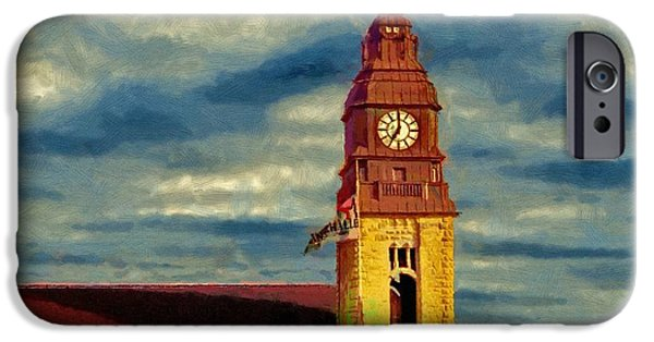 Hamburg Digital Art iPhone Cases - Time to Go iPhone Case by Jeff Kolker