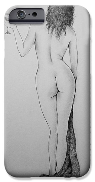 Bathing Drawings iPhone Cases - Time To Relax iPhone Case by Catherine Howley