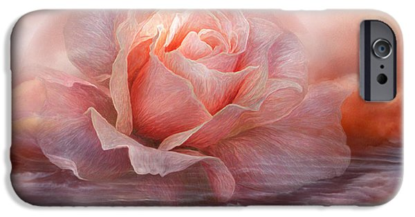 Peach Rose iPhone Cases - Time To Say Goodbye Rose iPhone Case by Carol Cavalaris