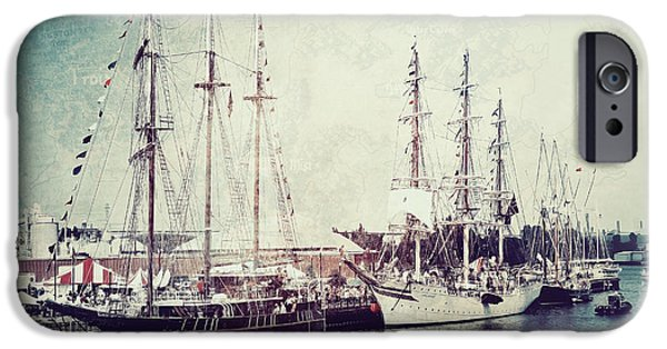 Tall Ship iPhone Cases - Time To Set Sail iPhone Case by Joel Witmeyer