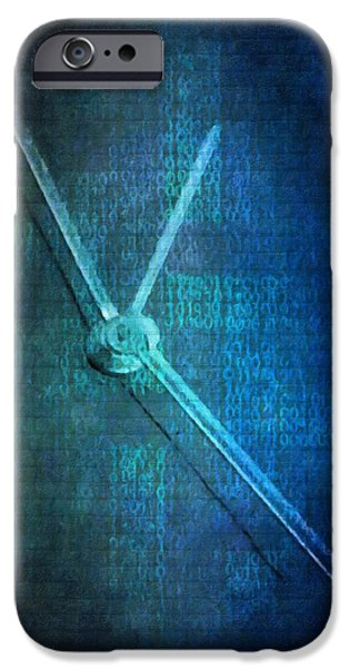 Swiss Mixed Media iPhone Cases - Time iPhone Case by Toppart Sweden
