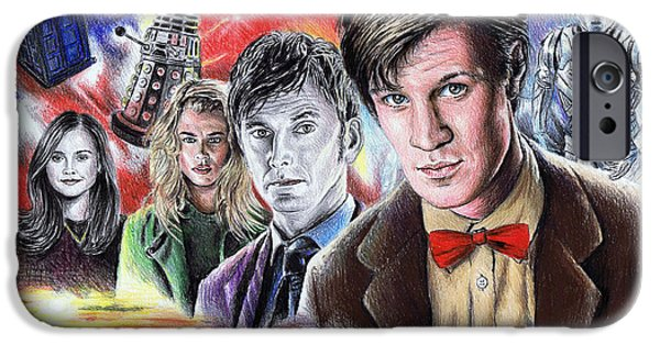 Dr Who iPhone Cases - Time Travel iPhone Case by Andrew Read