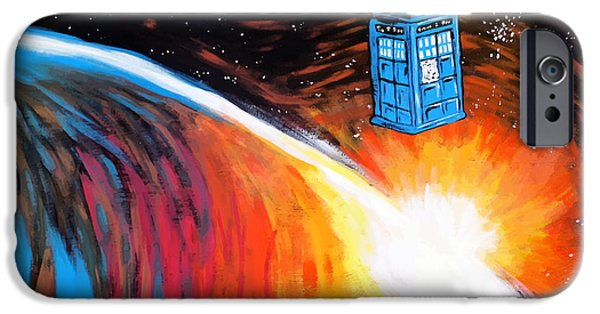 Dr. Who iPhone Cases - Time Travel Tardis iPhone Case by Jera Sky