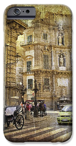 Time Traveling in Palermo - Sicily iPhone Case by Madeline Ellis